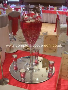 wine glass centerpieces | Large Champagne Glass Centerpieces