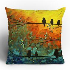 DENY Designs Madart Inc. Birds Of A Feather Throw Pillow | AllModern