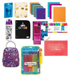 """""""Back to School Supplies"""" by josiasashlee on Polyvore featuring Sugar Paper, Mead, Yoobi, Ziggy, Paper Mate, Vera Bradley and Kate Spade Girl Survival Kits, 2 Pencil, Back To School Supplies, Mead, Vera Bradley, Kate Spade, Sugar, Paper, Polyvore"""