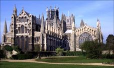 Ely Cathedral--   People often ask why such a vast church was built in such a small town.    In fact the Cathedral came first. When it was built Ely was only a small settlement, the town grew up around the Cathedral.
