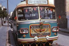 Old bus Ierapetra Crete Athens Greece, Crete Greece, Tramway, World Pictures, Busses, Historical Photos, Vintage Postcards, Volvo, Cars And Motorcycles