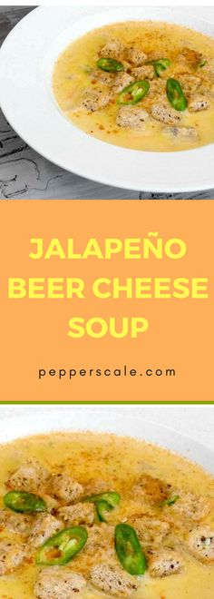 Jalapeno Beer Cheese Soup,A guy's comfort food…Jalapeño beer cheese soup is right up there as. Jalapeno Recipes, Spicy Recipes, Soup Recipes, Dinner Recipes, Spicy Steak, Beer Cheese Soups, Spicy Soup, Dinner Bowls, Vegetable Recipes