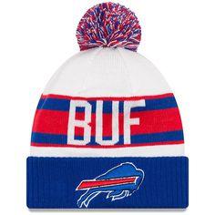 c438fac49ac Buffalo Bills New Era Retro Cuffed Knit Hat With Pom – White Royal