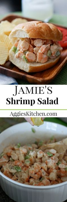 One of my favorite ways to enjoy shrimp, especially during the summer is the shrimp salad! Makes a great sandwich or addition to any salad. Shrimp Salad Recipes, Seafood Salad, Shellfish Recipes, Shrimp Dishes, Seafood Recipes, Pasta Salad, Seafood Gumbo, Crab Salad, Steamed Shrimp