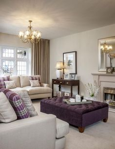 Use  different color than purple. Lighter curtains.