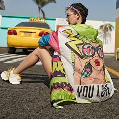Streetwear 2020 Summer Punk Style Funny Rock Print Super Thin UV-Proof Beach Cover Up Tops
