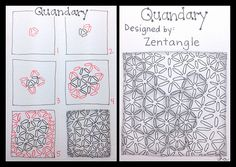 Zentangle : Tangle Pattern : Quandary | Flickr - Photo Sharing! Official Zentangle Pattern