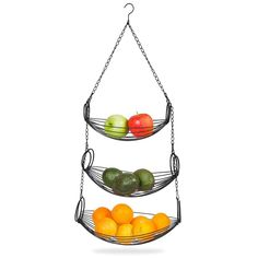 Home Intuition Hanging Basket Heavy Duty Wire, Oval (Black) Kitchen Vegetable Storage, Intuition, Hanging Fruit Baskets, Pan Organization, Iron Wire, Kitchen Items, Kitchen Rack, Extra Storage, Organizer