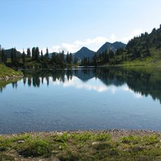 Lunch Lake, High Divide Loop Olympic National Park. We are SO doing an overnight back packing trip!!