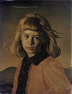 """Young girl"" Gerald Leslie Brockhurst (October 31, 1890 – May 4, 1978)"