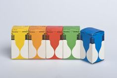 Vintage lightbulbs packaging