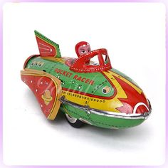 Space Ship Toy Rocket, Rocket Ships, Antique Toys, Vintage Toys, Build A Spaceship, Hippopotamus For Christmas, Space Toys, Retro Futuristic, Metal Models
