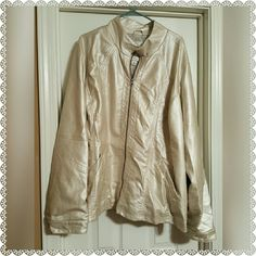 PLUS SIZE MAURICES MOTO FAUX LEATHER JACKET PLUS SIZE MAURICES MOTO FAUX LEATHER JACKET. LIGHT SPOTTING AS SHOWN IN THE 4TH PICTURE. THE PRICE REFLECTS. SATEEN INTERIOR LINING. SNAP BUTTON WRIST CLOSURE.   SAME OR NEXT DAY SHIPPING!   REASONABLE OFFERS WELCOMED!   HAPPY POSHING! Maurices Jackets & Coats