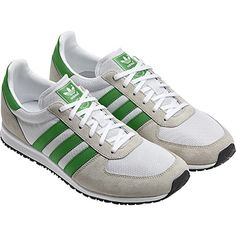 Adidas adistar Racer Schuh, Running White / Bliss / Real Green
