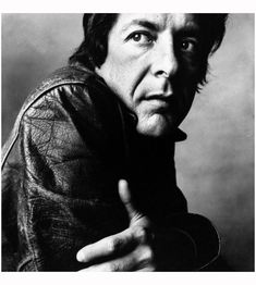 by Irving Penn / Leonard Cohen, 1969