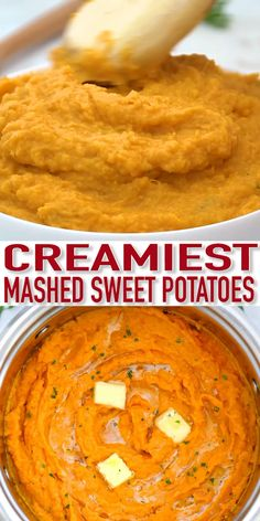 Mashed Sweet Potatoes are a creamy buttery and yummy side dish They go well with anything savory like chicken fish or turkey Plus this recipe is very easy to make Side Dish Recipes, Veggie Recipes, Vegetarian Recipes, Cooking Recipes, Healthy Recipes, Vegetarian Sweets, Cooking Cake, Vegetarian Breakfast, Cooking Gadgets