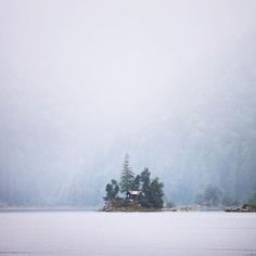 A rustic log cabin on Lake Eibsee in Germany. Such a shame it is now abandoned.. by alexstrohl