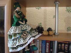 Купить Рождественская Тильда - зеленый, подарок, подарок на новый год, подарок девушке, подарок на любой случай