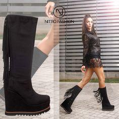 """Δημιούργησε το δικό σου """"boho look"""" με το ιδανικό παπούτσι της σειράς #fwcollection, τώρα σε εκπληκτική τιμή Boho Boots, Knee Boots, Fall Winter, Shoes, Fashion, Moda, Zapatos, Shoes Outlet, La Mode"""