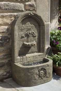 classic sandstone wall water fountain made from fiberglass this fountain can be hung or placed