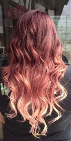 Rose gold ombre!!