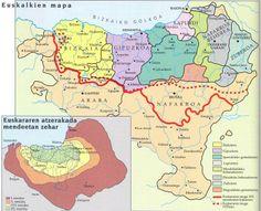 Centro Cultural Tzolk'in: Euskararen Nazioarteko Eguna en Cancún Map Of Spain, Latin Language, Old World Maps, Ads Creative, Alternate History, Mystery Of History, Basque Country, Historical Maps, Pamplona