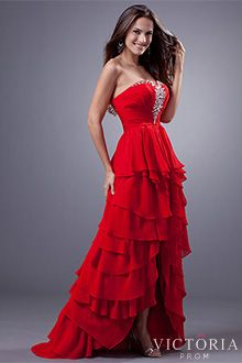Red Formal Prom Dresses - P1968