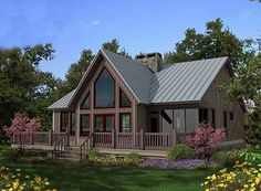 Porches and Decks Galore - thumb - 02 A Frame House Plans, Rustic House Plans, Cabin House Plans, Mountain House Plans, A Frame Cabin, Small House Plans, Country Home Plans, Small Cottage Plans, Small Rustic House