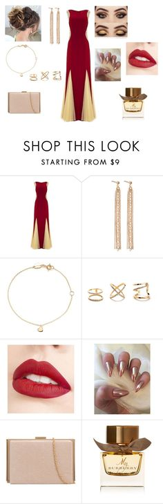 """Glam Prom Night 🌹"" by annemarie-robinson on Polyvore featuring Charlotte Chesnais, Estella Bartlett, Jouer and Burberry"