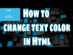 How to change the text color in HTML - YouTube