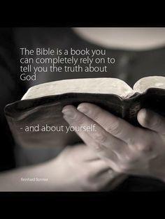 The Bible.... Reinhard Bonnke quote