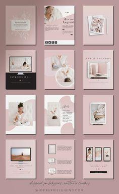 Tips Instagram, Feeds Instagram, Instagram Posts, System Glitch, Web Design, Design Ideas, Indesign Templates, Catalog Design, Media Kit
