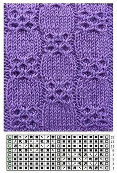 Rundstrickmuster rnrnSource by gabrieleabb Lace Knitting Patterns, Knitting Stiches, Cable Knitting, Knitting Charts, Knitting Designs, Crochet Stitches, Hand Knitting, Stitch Patterns, Crochet Socks