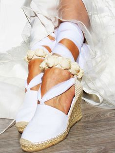 AUDREY Espadrille Wedge Wedding Lace Up by IBICENCAS on Etsy #laceup #espadrilles #bride #wedge #hippie #wedding #sandals #shoes #bridal #bridesmaid #roses #boho #handmade