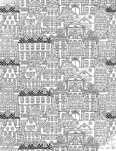 coloriage de Murs et façades