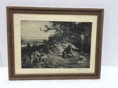 Thomas Hill Photogravure Squaw Valley Old Grizzly's Den Invaded Signed Antique