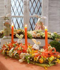 Arranjo de mesa para a Páscoa