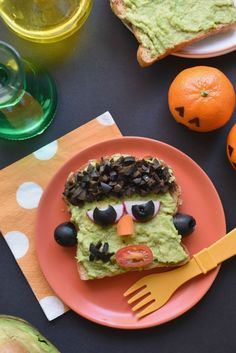 Ha! Laughing at this Frankenstein Avocado Toast | how-to at Fork and Beans