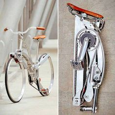 Spokeless Fold-Up Bicycle_Fácil de guardar!