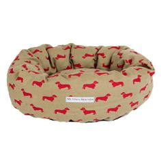 MUTTS & HOUNDS - Dachshund Linen Donut Bed