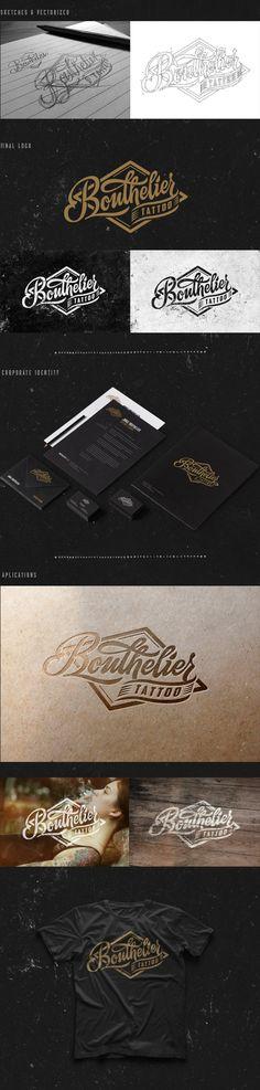 BOUTHELIER Tattoo by Javi Bueno, via Behance | #stationary #corporate #design #corporatedesign #identity #branding #marketing