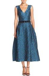 Sachin & Babi Noir 'Moriku' Embellished Woven Midi Dress
