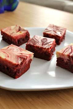 Three of my favorites things in one delicious dessert: red velvet, brownies and cream cheese (Baked Perfection: Red Velvet Cream Cheese Swirl Brownies)