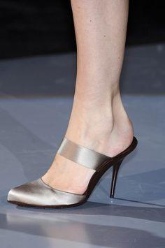 Giorgio Armani at Milan Fashion Week Spring 2009 - Livingly Walk On, Beautiful Shoes, Milan Fashion, Giorgio Armani, Enchanted, Me Too Shoes, Clogs, Kitten Heels, Shoes Sandals