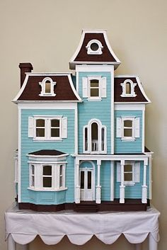 wooden dollhouses outside - Google Search
