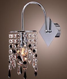 Hotel Corridor Crystal Wall Light