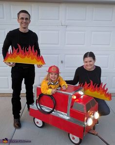 Lisa: My daughter, Penny, is 3 years old, loves the color red and loves transportation vehicles. My husband, Ben, created her costume of a fire truck out of a red wagon,...