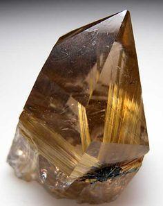Rutile in Quartz from Novo Horizonte, Bahia, Brazil (Marin Mineral Company)