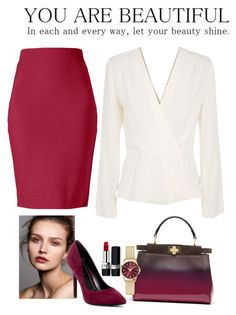 """""""What to wear: Work"""" by momo-a on Polyvore featuring Winser London, Christian Dior, Charles by Charles David, Elizabeth and James, Fendi and Henry London"""