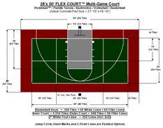 20 X 25 Dimensions Of Backyard Basketball Half Court Google Search